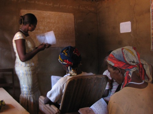 Margaret teaching Pre-Literacy class in Bamunka