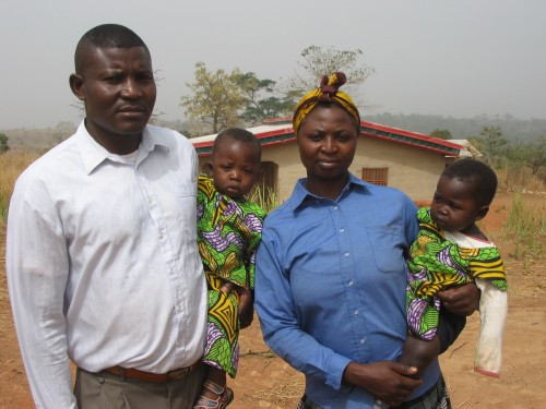 Edward & Prisca with their twins Victor and Victory