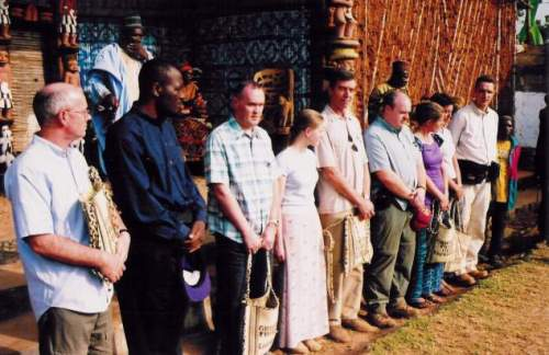 2003 trip to Oku: we meet the Fon of Oku