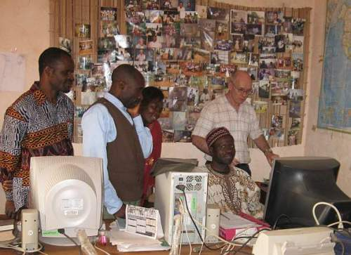 With Peter Ngum and his Oku team February 2009