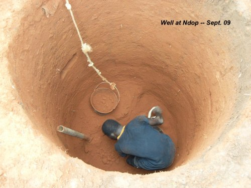 Digging the well in Ndop town