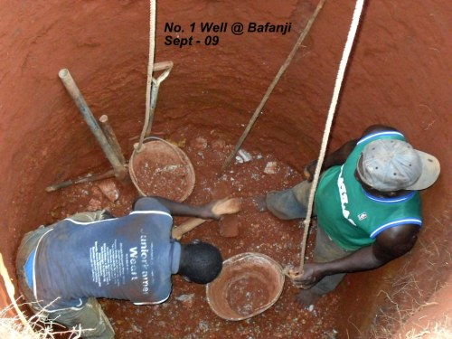 Digging well No.1 in Bafanji