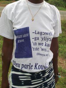 Kouya New Testament dedication T shirt (Côte d'Ivoire)