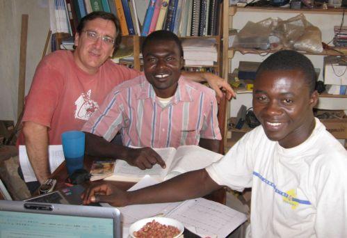 Dan with Bambalang translators Novaten & Pius