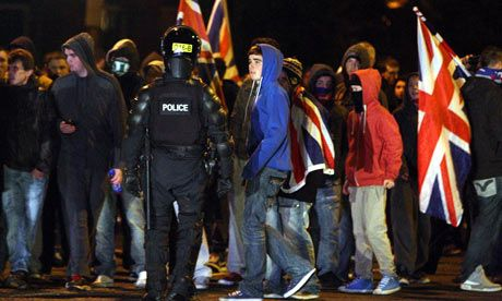 Flag riots East Belfast
