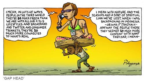 polyp_cartoon_tourist_yuppie_hypocrite_gap_year_wealth_poverty