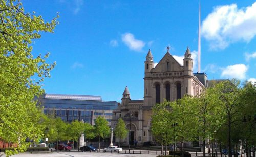 St Anne's Cathedral Belfast one sunny day between the showers