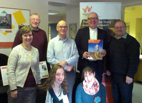 Rob Craig with some of the Wycliffe team in Belfast