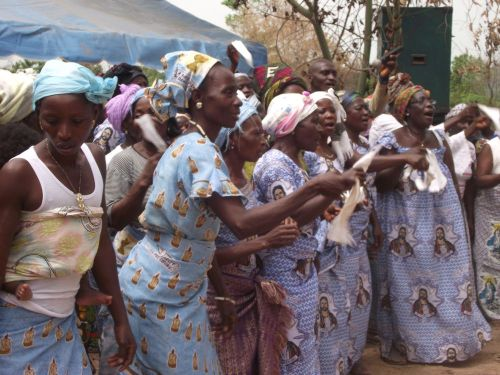These Koiuya women and girls were pretty excited at the dedication of their New Testament; I should know - I was there!