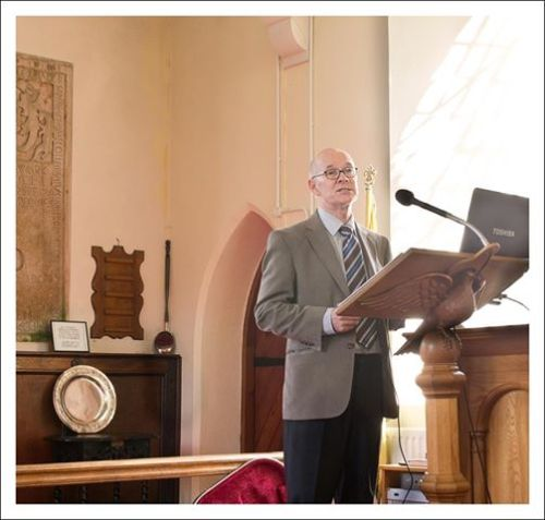 Speaking in Desertcreat Parish Church