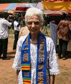 Mary Steele in Ghana