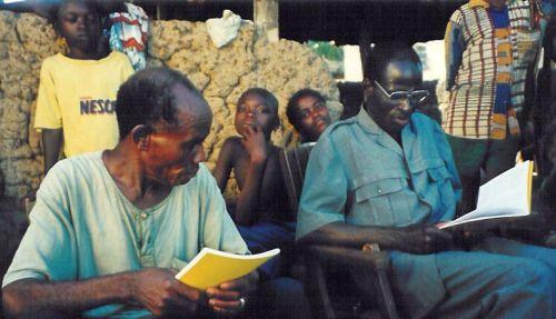 Ezekiel reading Luke to the chief of Dediafla