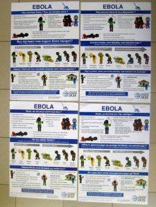Ebola awareness / prevention posters in four minority languages of Senegal