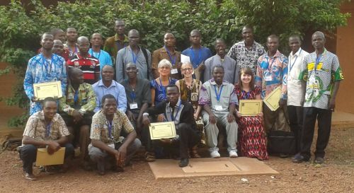 Sarah with the other workshop participants in Burkina Faso
