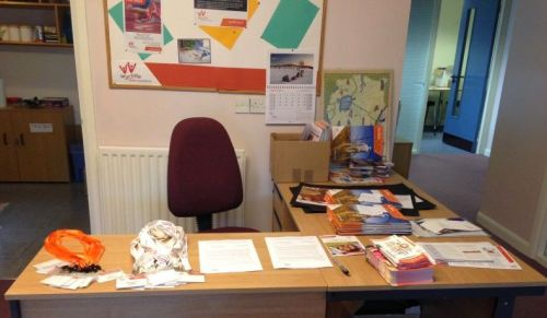 Joanna's photo of her preparations for the First Steps event that she later attended