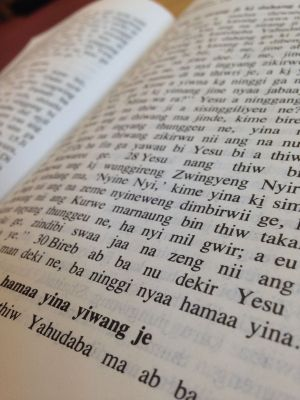 God's Word in someone else's language
