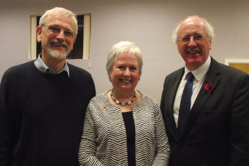 Philip and Heather Saunders with Jim Shannon, the local MP and keen advocate for the Ulster Scots language