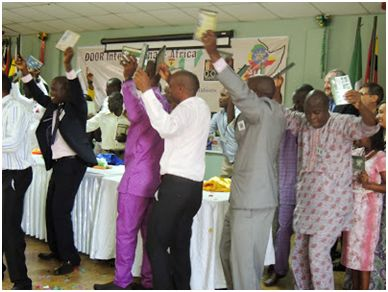 A celebration of DVD Scripture for sign languages in Ghana, Burundi, Ethiopia, Uganda, Tanzania and Nigeria